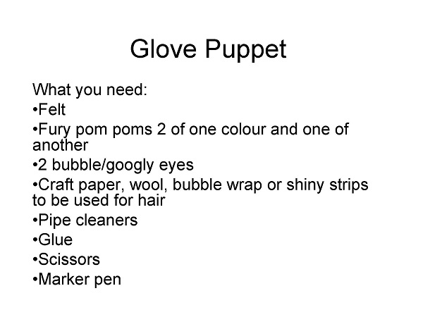 How to Make a Glove Puppet [PPT]