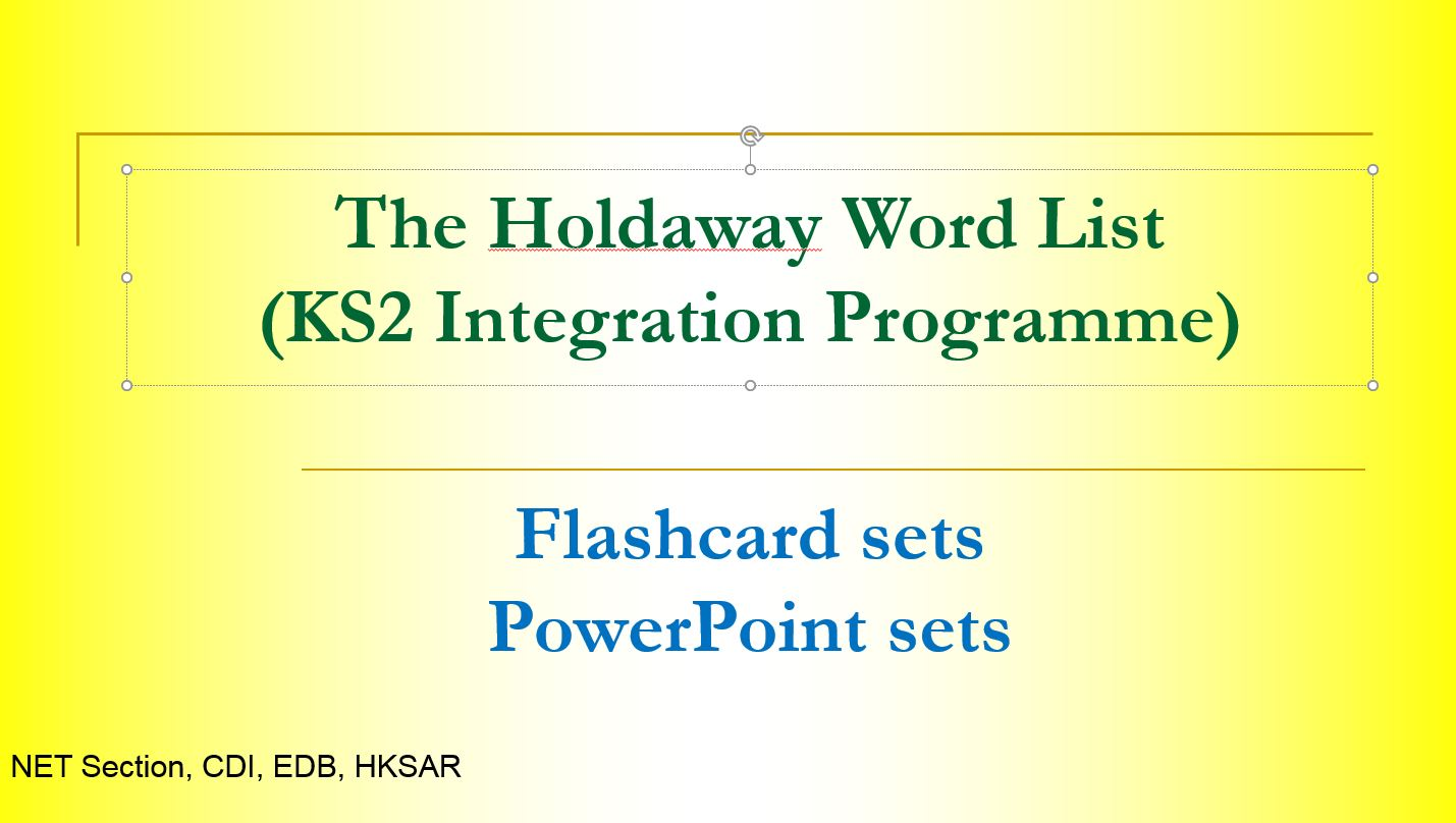 High Frequency Words programme resources