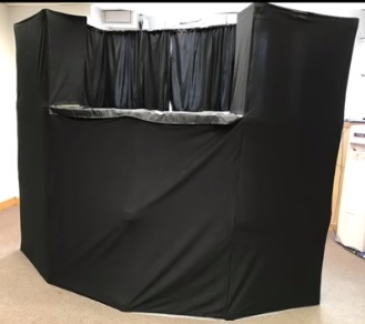 How to set up the puppetry tent