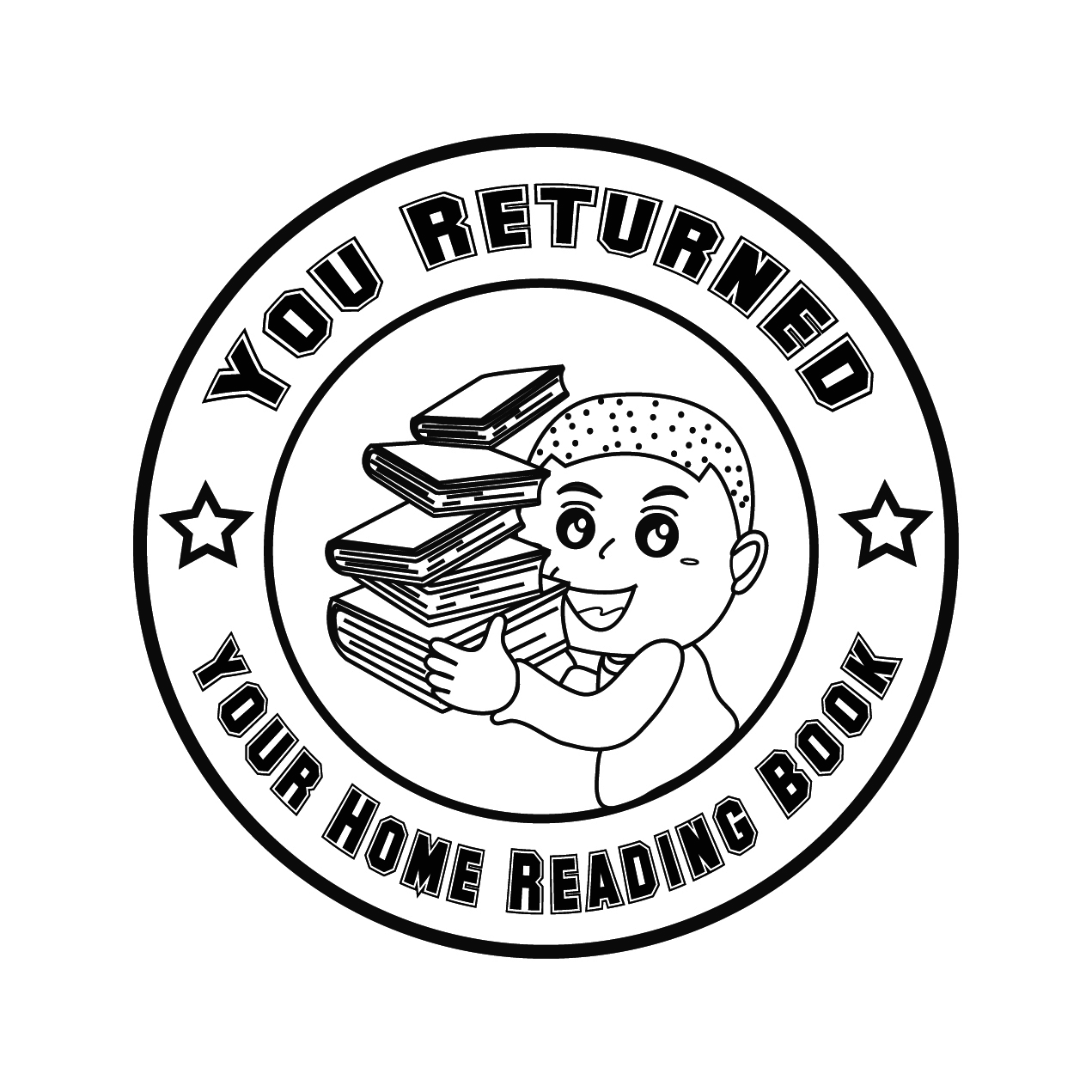 Home reading stamps and certificate