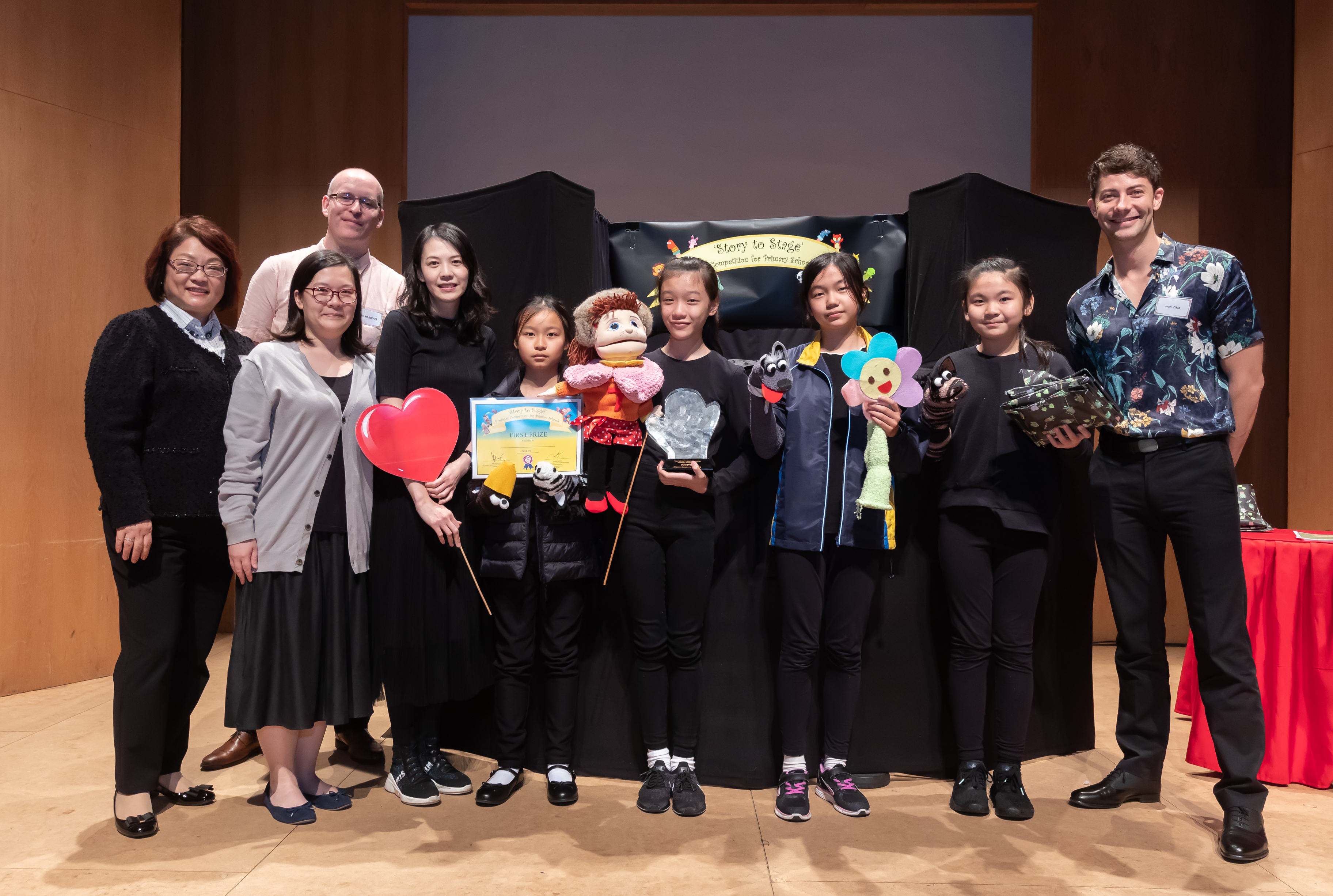 Puppetry Competition 2019 Photos of the 1st Prize Puppetry Teams