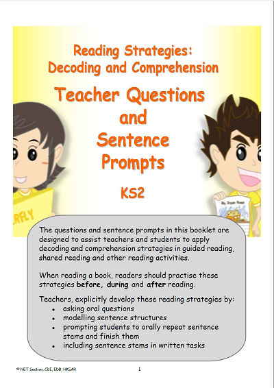 Reading comprehension strategies - teacher question booklet[PDF]
