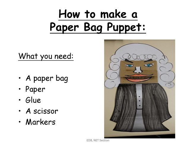 How to Make a Paper Bag Puppet [PPT]