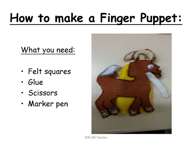 How to Make a Finger (Felt) Puppet [PPT]